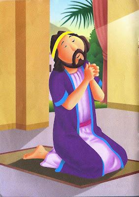 Daniel história bíblica colorida