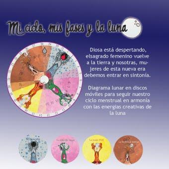 Paloma ilustrada: Diagrama lunar: mis ciclos, mis fases y la luna