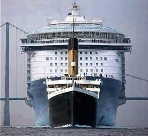 Titanic Versus Allure of the Seas