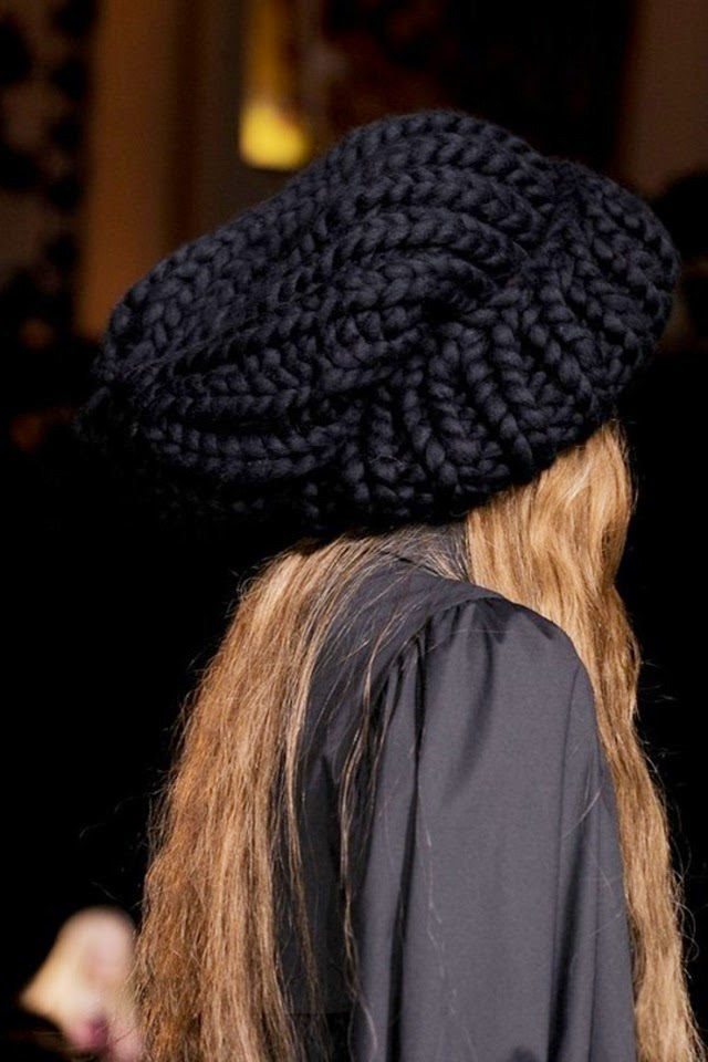oversized chunky knit beanie hat giles 2013 rtw winter style