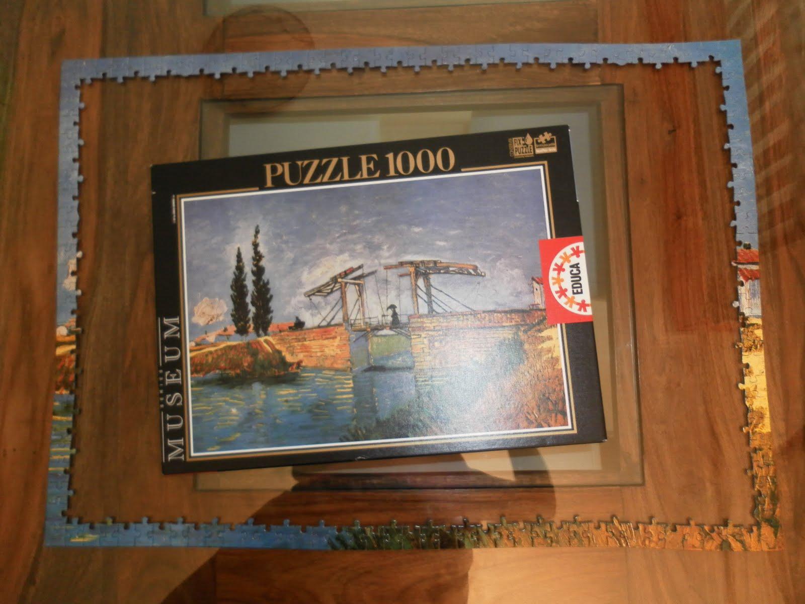 Solo yo: Puzzle: El pont de Langlois. Van Gogh.- Cómo se hizo