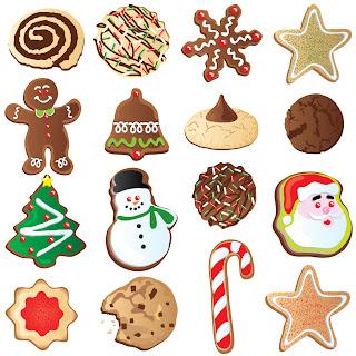 クリスマス飾りのビスケット christmas ornaments biscuits vector イラスト素材