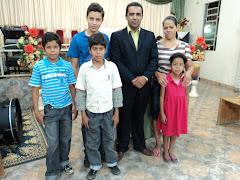 Pb João Neto sua esposa Irmã Marcia e filhos, Rafael, Thiago, Marcos e Debora.