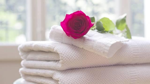 Toalhas de banho macias e perfumadas