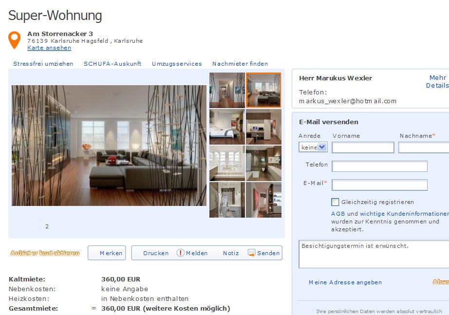 Zimmer Wohnung Karlsruhe Hagsfeld