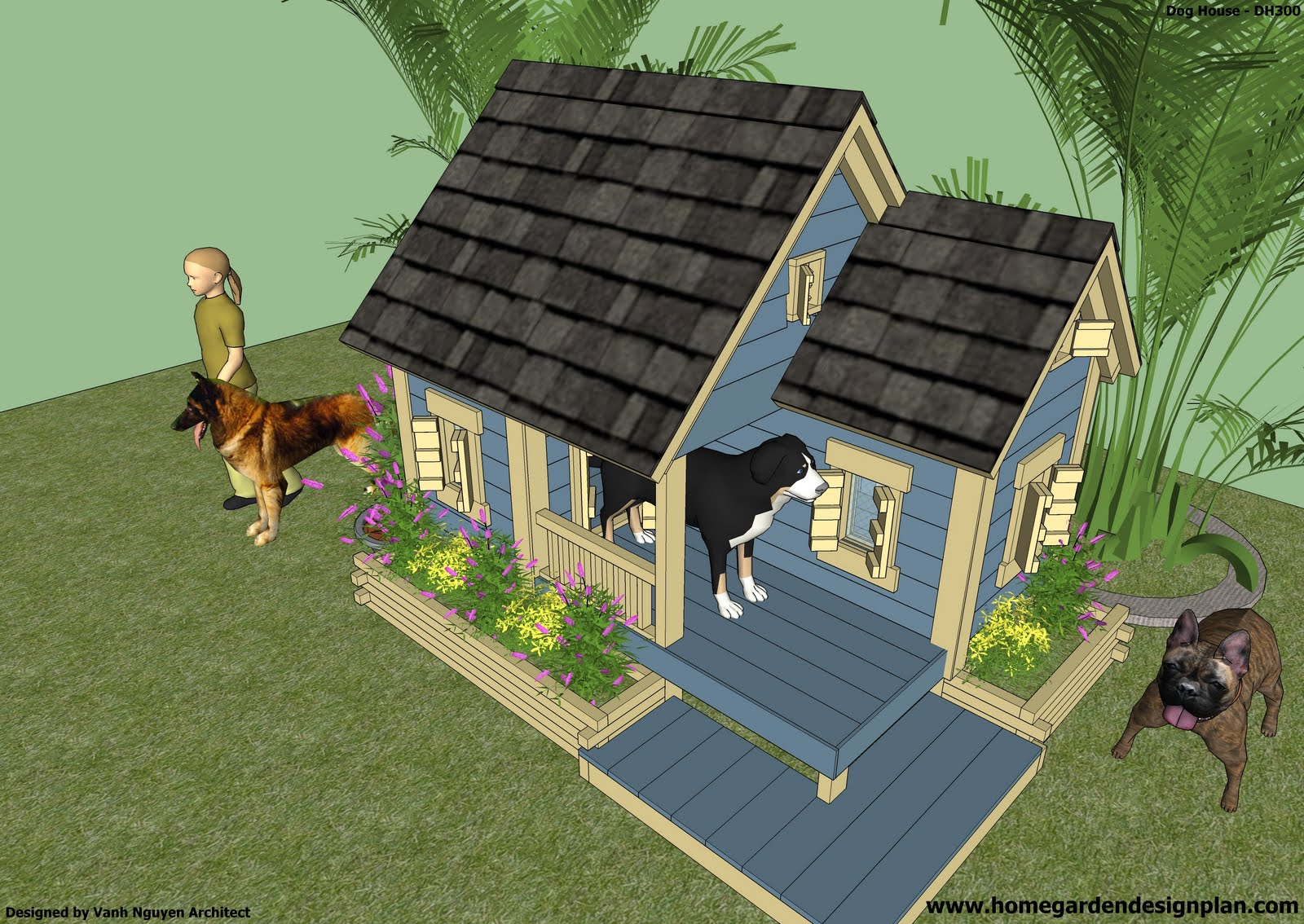 How To Build A Dog House Blueprint Home Improvement