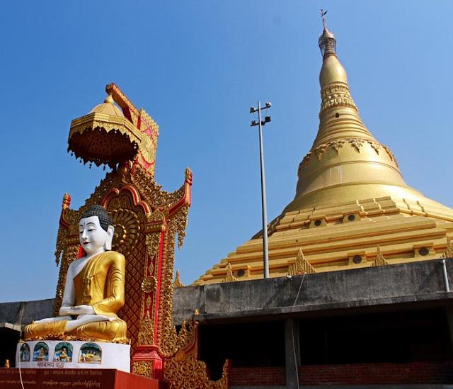 inside the Global Pagoda at Manori