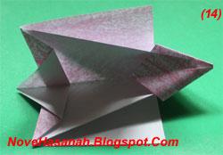 melipat origami anak anjing yang menggemaskan