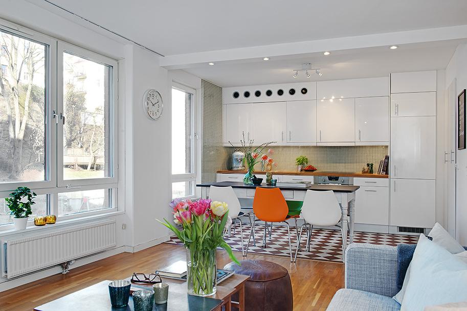 Pembe dolaptakiler irin bir ev for Salon comedor cocina mismo espacio
