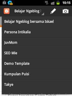 Pengalaman Ngeblog lewat Aplikasi Blogger Android