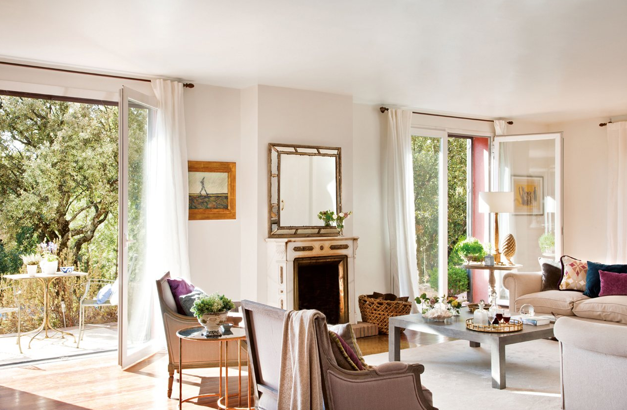 Salones veraniegos remanso de paz y tranquilidad - Salones decorados en blanco ...