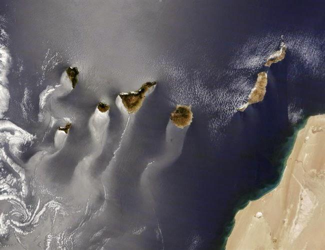Canarias desde el satélite Terra. 15 junio 2013