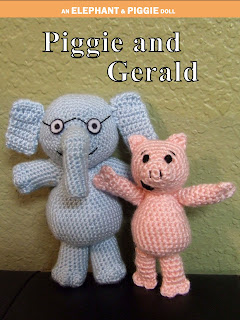 Piggie and Gerald Hand Crocheted Dolls