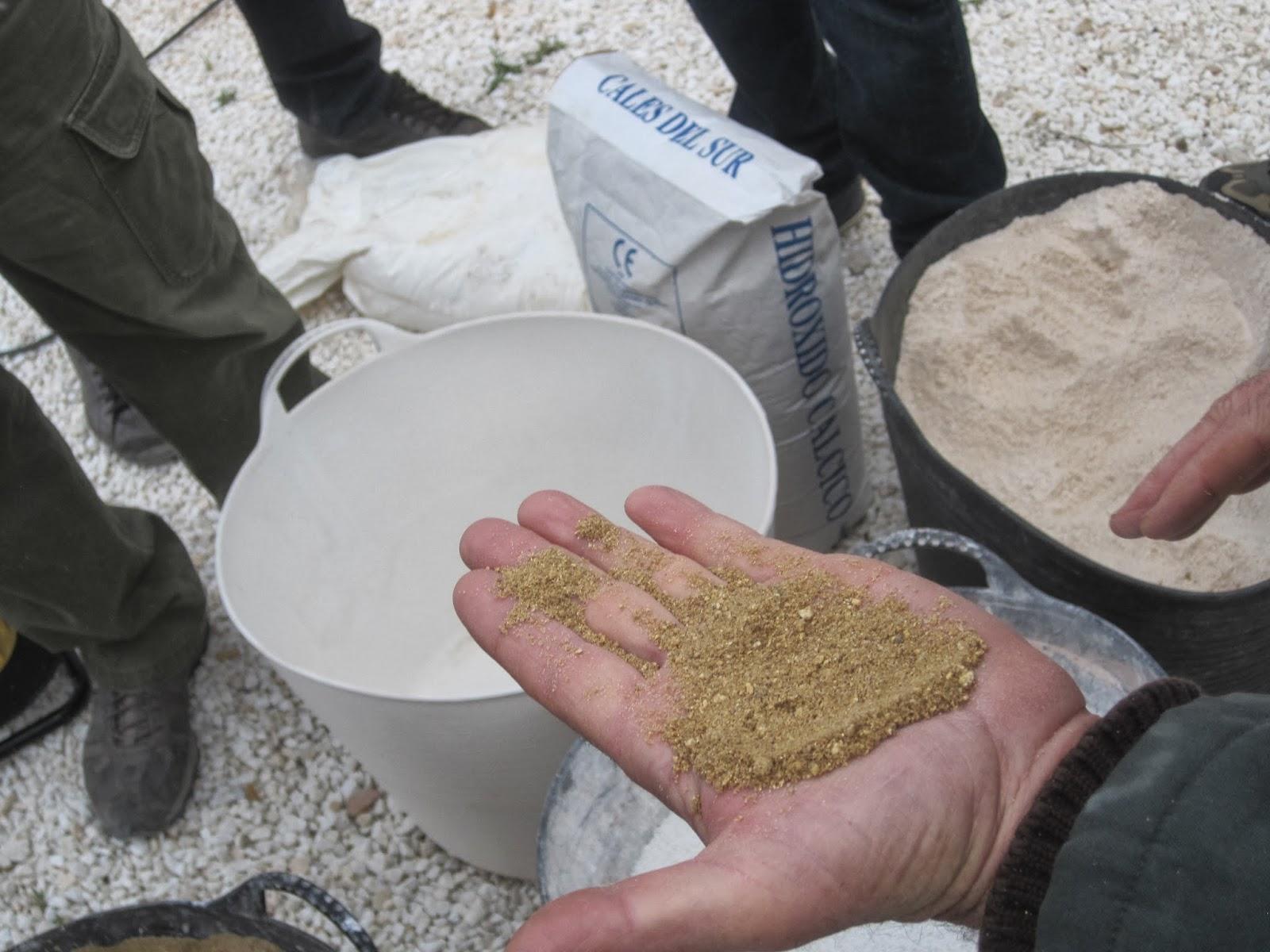 distintos tipos de ridos cal area cal en pasta cal hidrulica y cemento natural variante de la cal hidrulica trminos como ridos curva