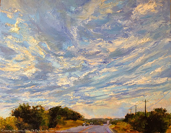 Entering Hill Country Skies - By K Hitt