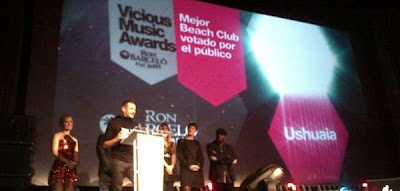 Yann Pissenem destacó el trabajo del equipo de Ushuaïa Ibiza Beach Hotel al recoger los tres premios