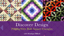 Discover Design Playing with Half-Square Triangles
