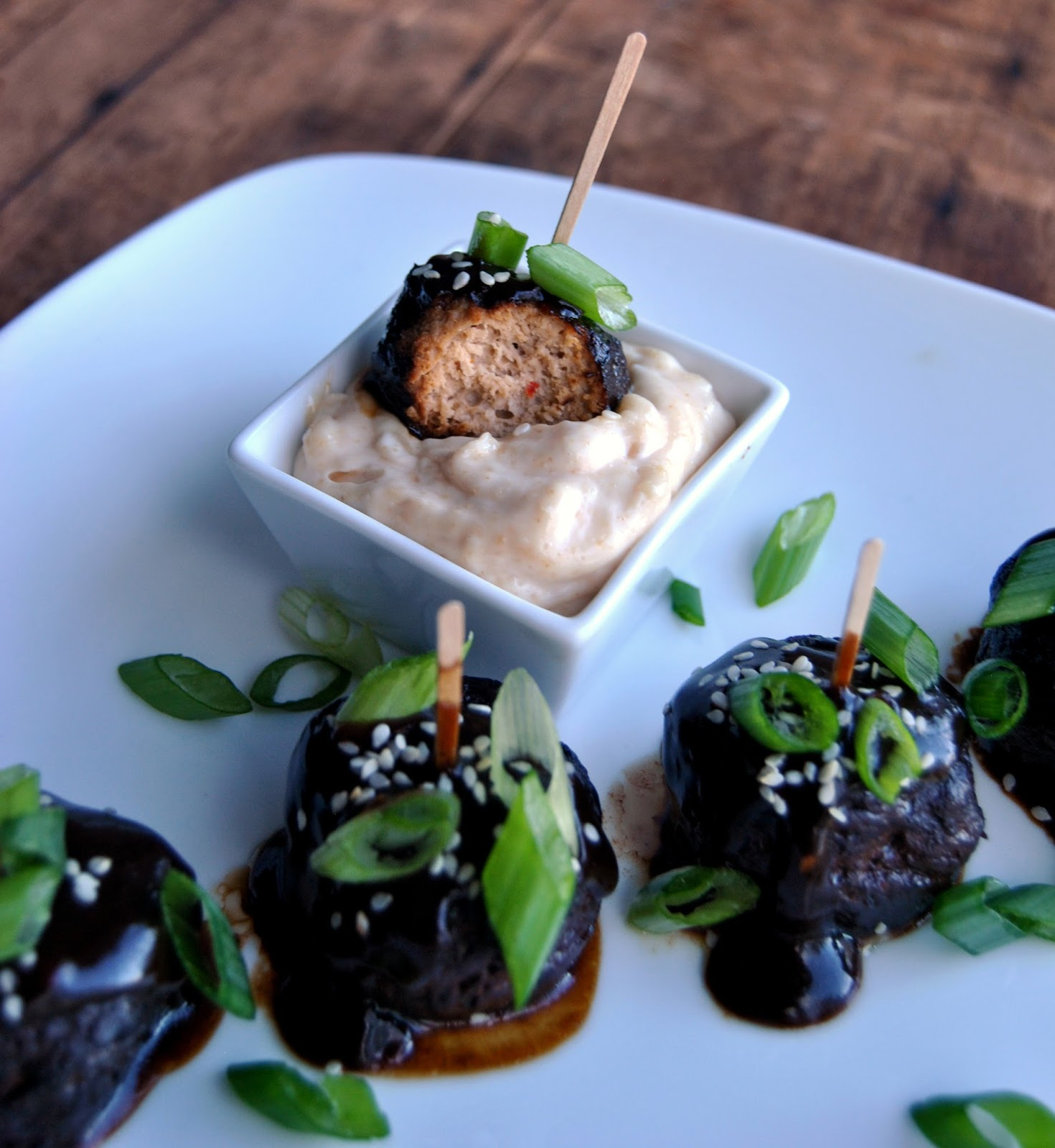 Weston brands blog slow cooker asian chicken meatballs fresh ground chicken blended with our sweet spicy jerky seasoning smothered in teriyaki slow cooked and served with a ginger garlic aioli forumfinder Choice Image