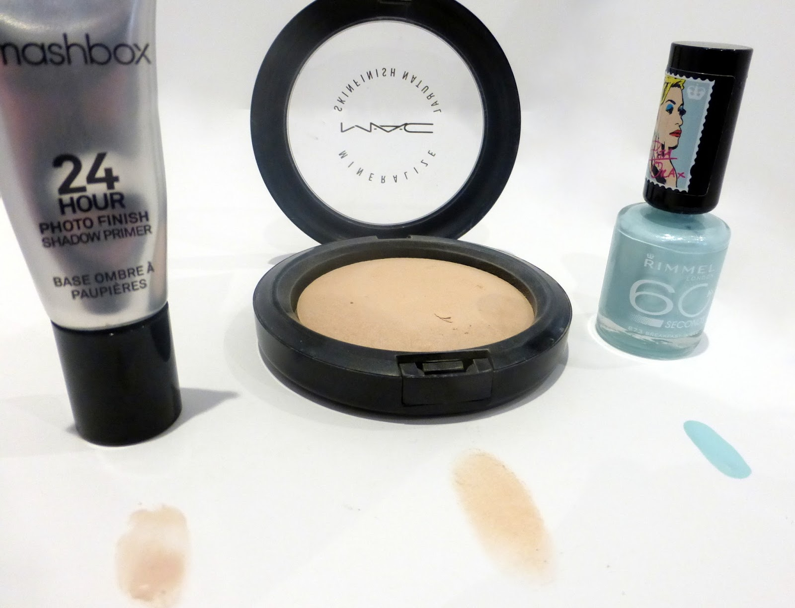 smashbox primer, mac, rimmel london