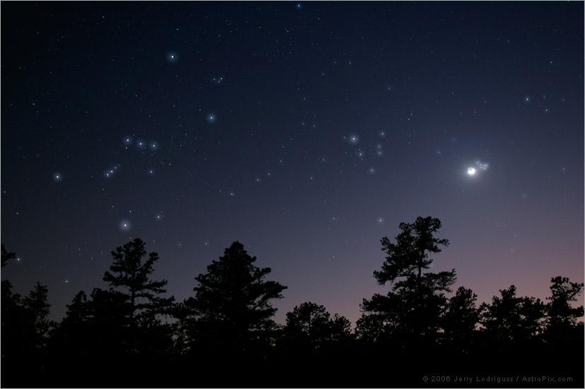 Tác giả hình : Jerry Lodriguss. Hình này chỉ mang tánh chất minh họa cho bài viết, thực tế Mặt Trăng tối 25/3 sẽ xa cụm sao Pleiades và gần sao Aldebaran hơn so với trong hình.