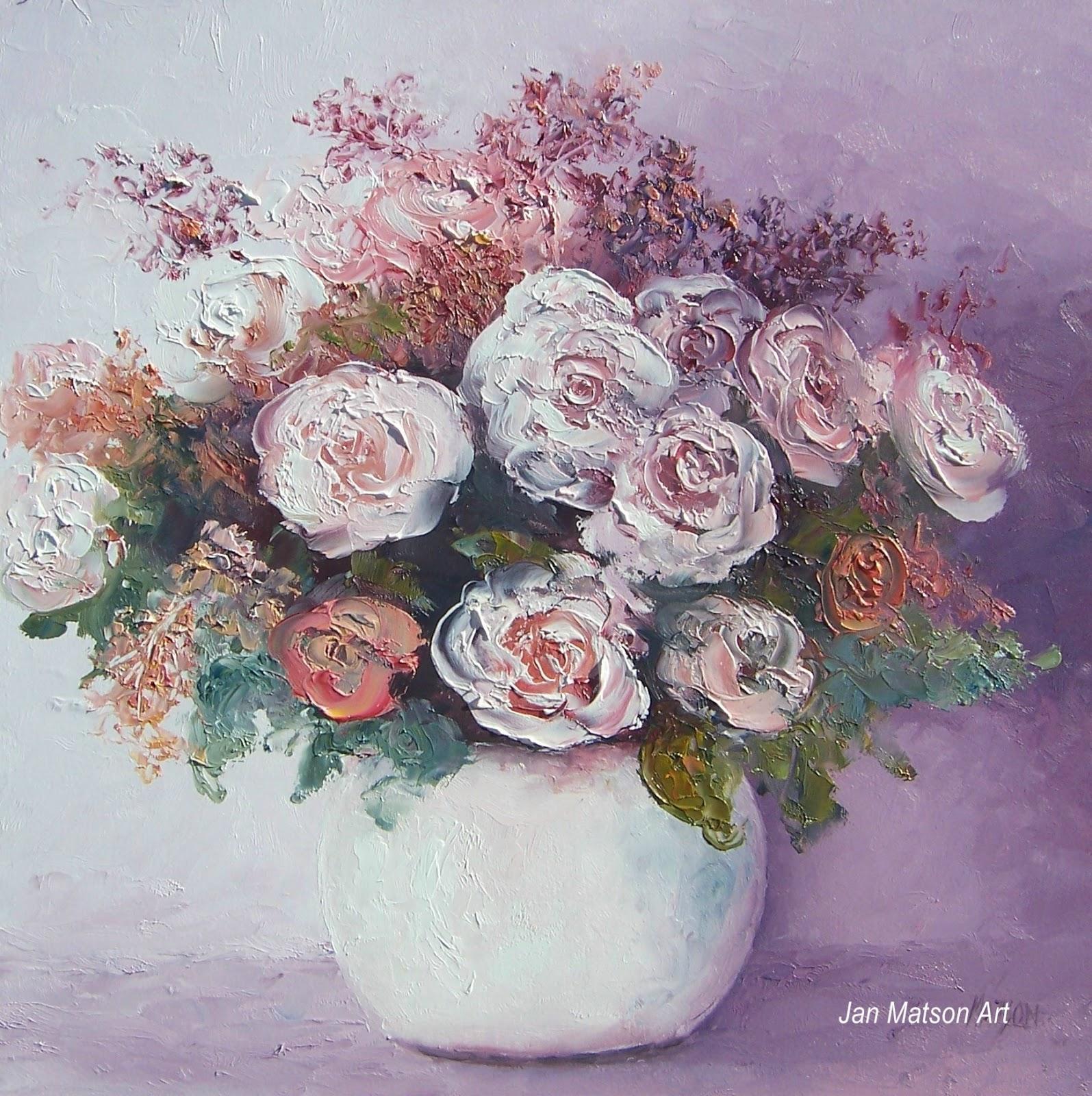 Jan matson etsy art roses in a white vase roses in a white vase mightylinksfo