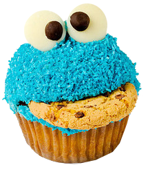 monster cookie cupcakes