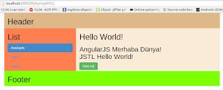 Maven AngularJS Bootstrap Final Arayüz