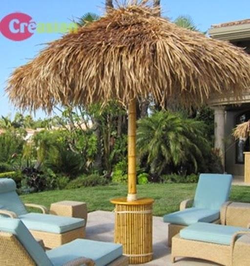 quality bamboo and asian thatch build thatch umbrellas ,tiki, Garden idea