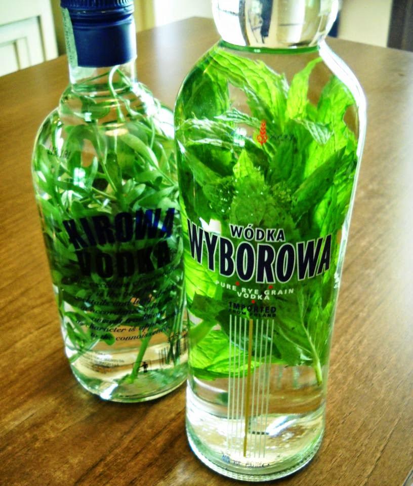 vodka alla menta fatta in casa