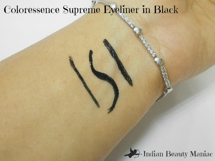 Coloressence Supreme eyeliner in black swatch