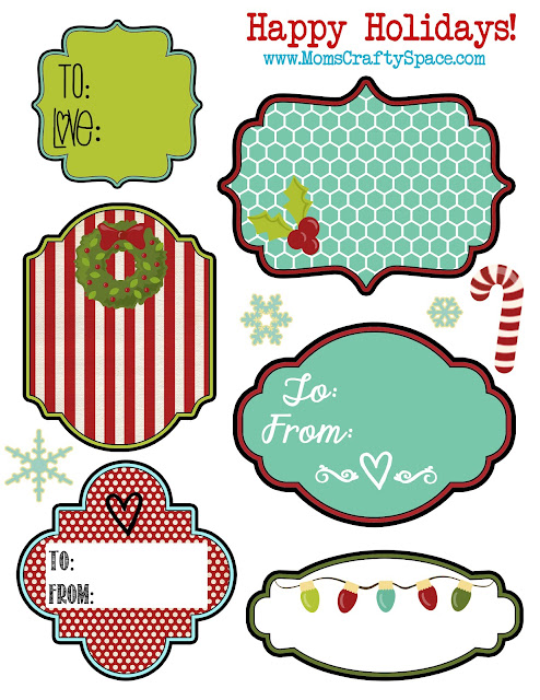 24 Christmas Tags & Games {Free Printables} - The Crafted Sparrow