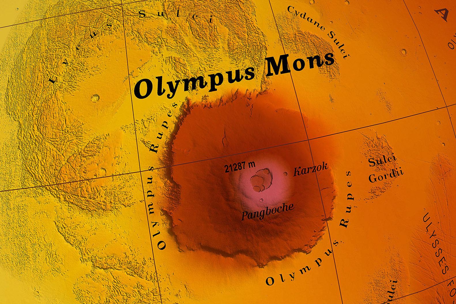 Výsledek obrázku pro olympus mons