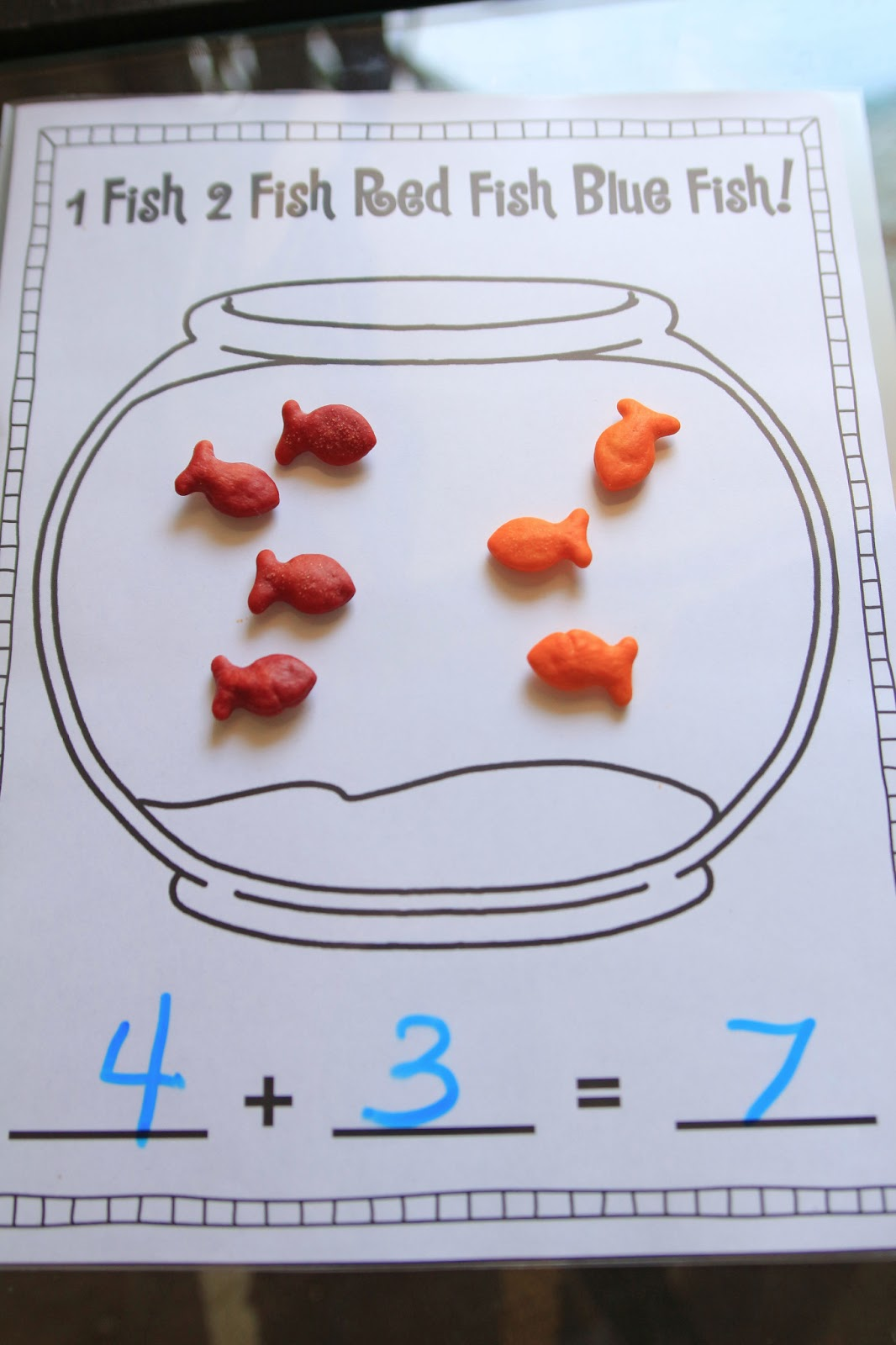 Counting On Addition Worksheets besides Fish Bowl Addition ...