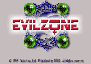 Evil Zone PlayStation PAL title screen