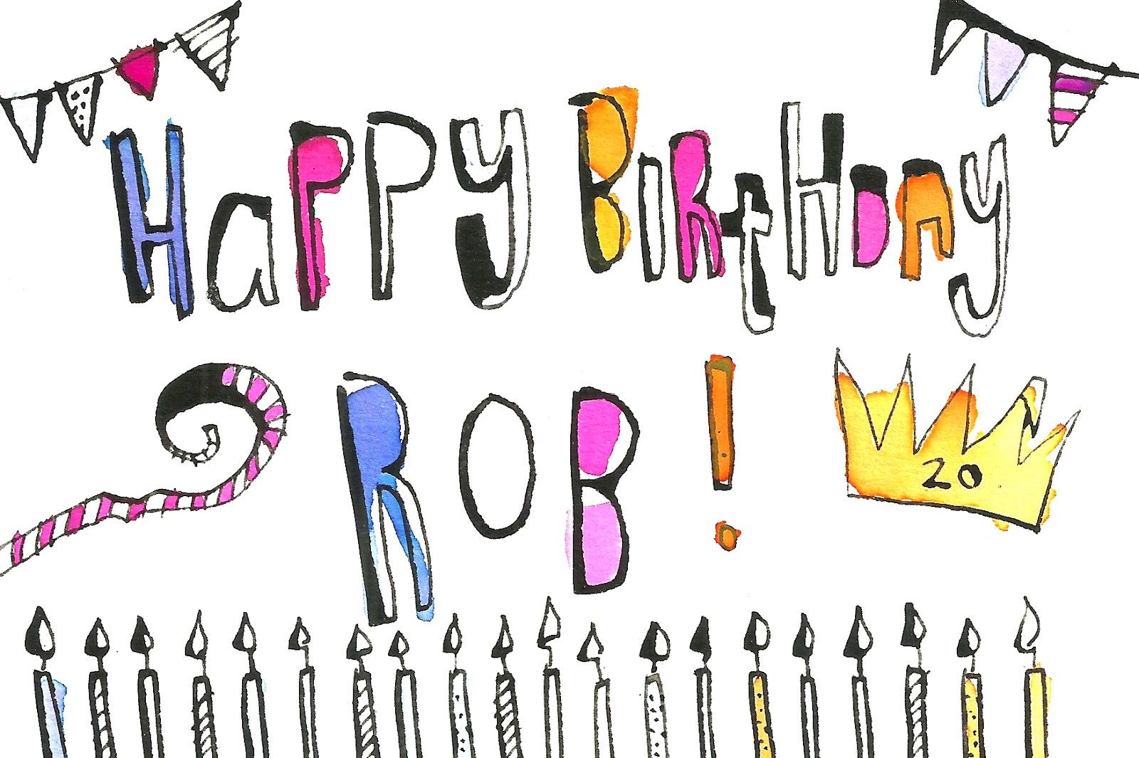 happy birthday writing styles