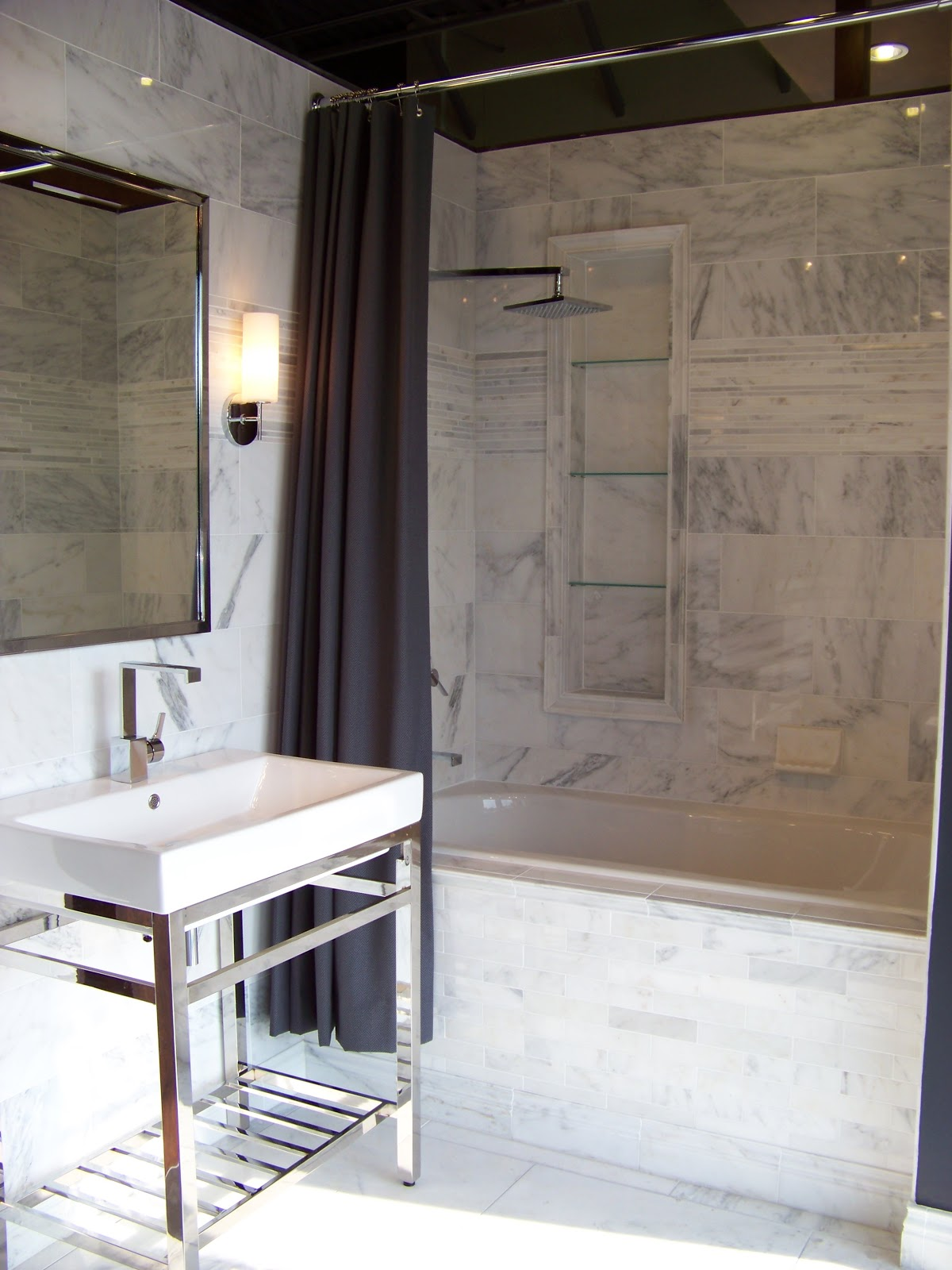 Used to made this bathroom classically fabulous with a little edge