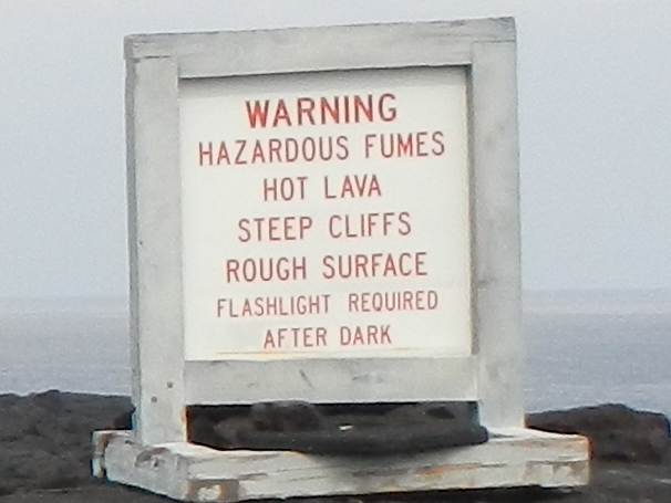 Volcano warning sign (c) 2013