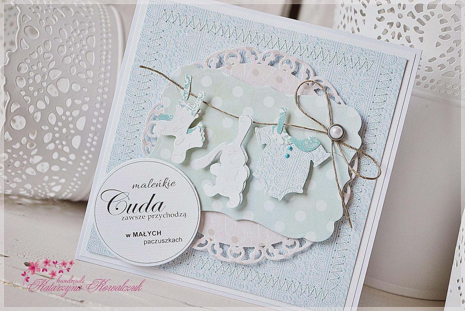 kartka z okazji narodzin dziecka scrapbooking