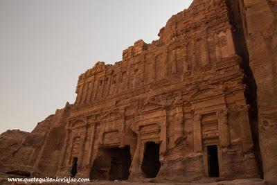 Calle de las fachadas de Petra - Viaje a Jordania