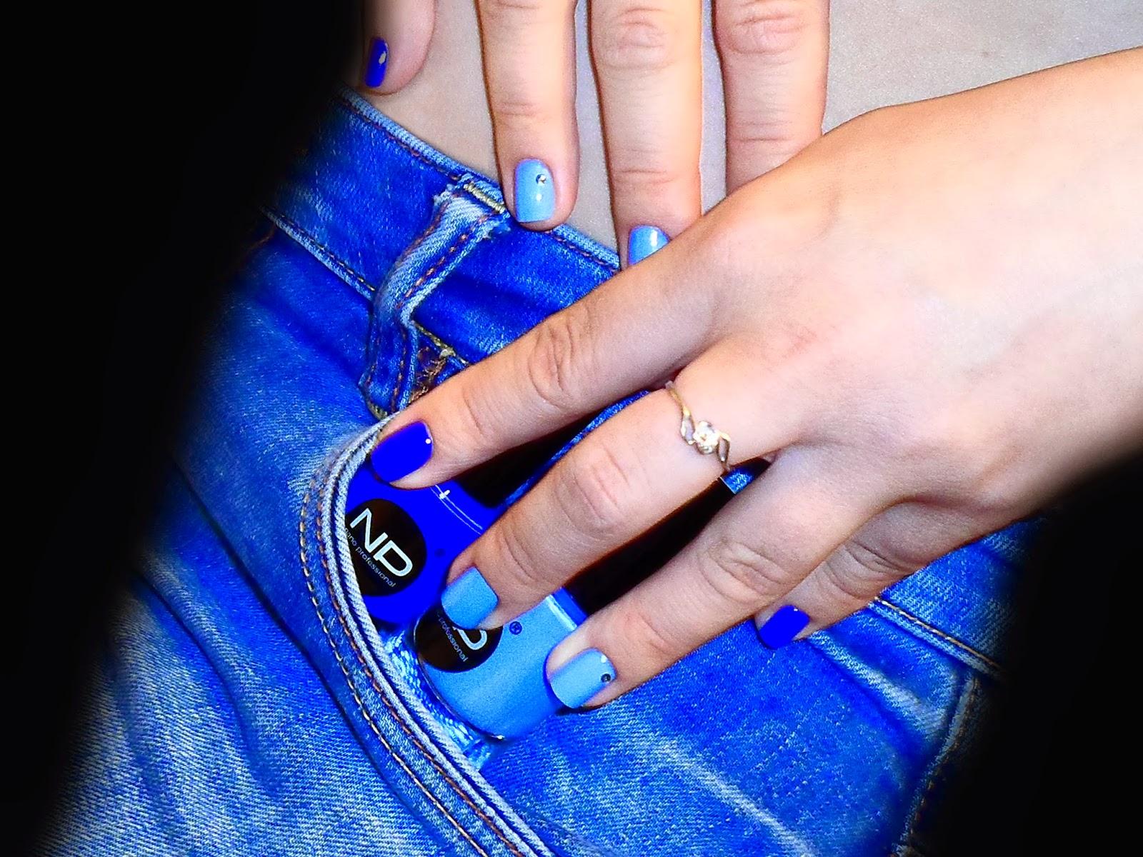 Фото синий голубой маникюр фото