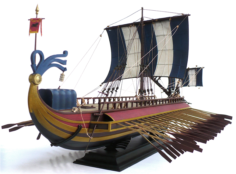 The Great Canadian Model Builders Web Page!: Roman Trireme - 2