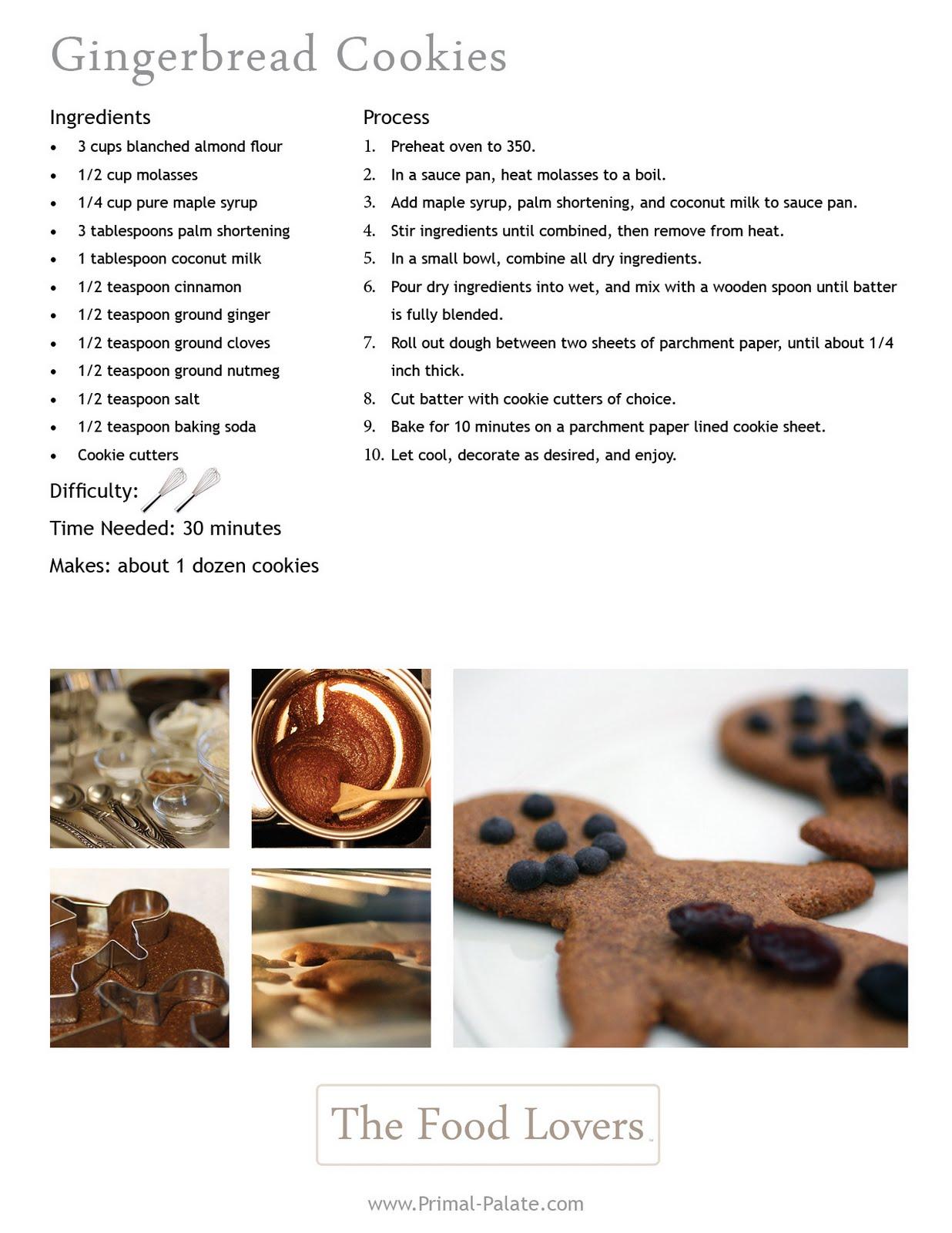 Paleo Christmas Cookies: Grain-Free Gingerbread Men - Primal ...