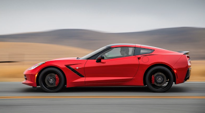 2014 Chevrolet Corvette C7 profile red