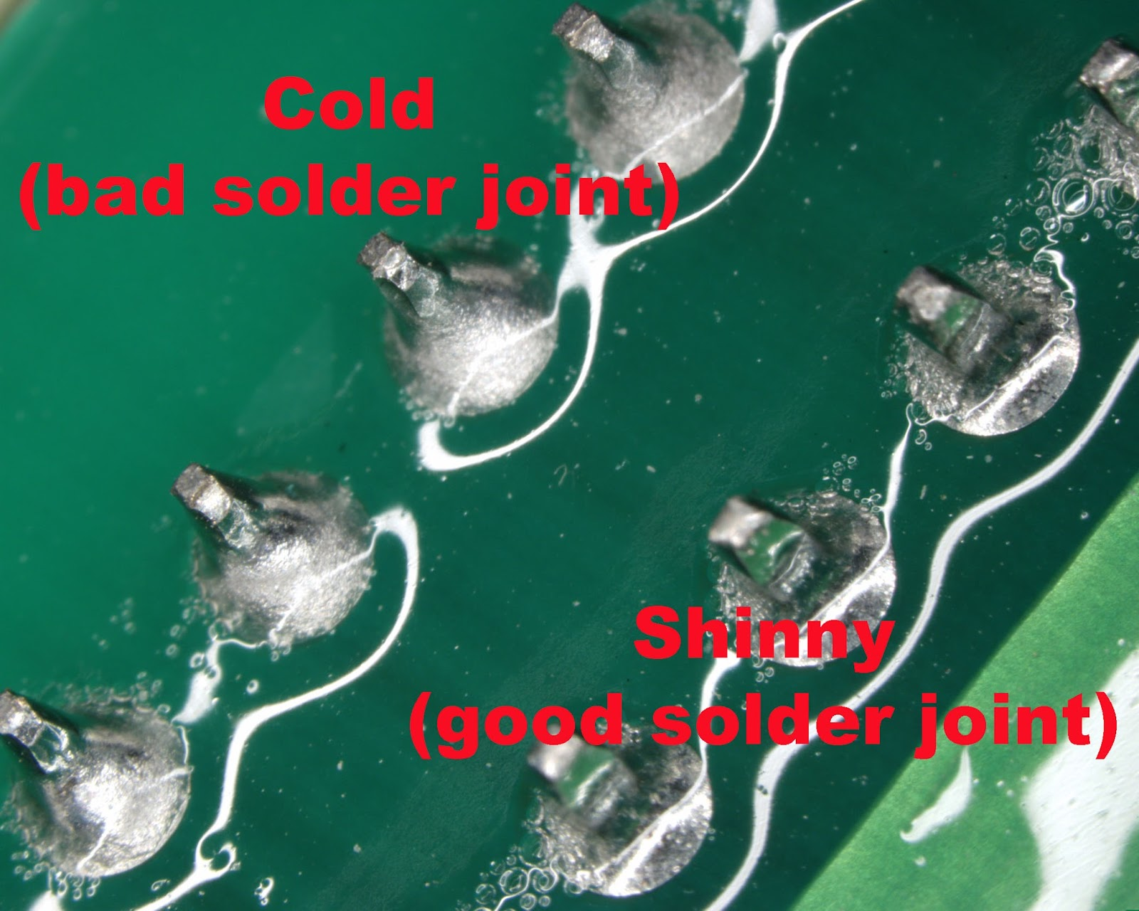 Cold Solder Joint >> Soldering Q S Tech Lines