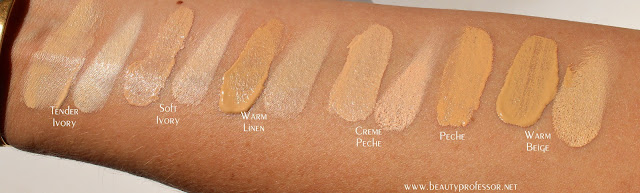 la prairie skin caviar foundation swatches