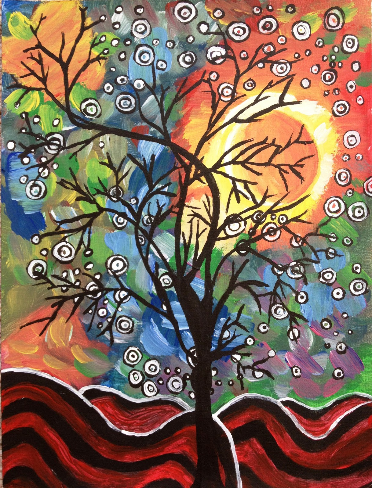Colors on canvas acrylic painting for sale for Canvas art on sale