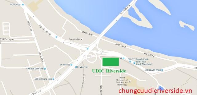 Vị trí chung cư udic riverside