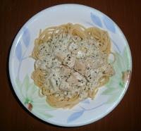 Spagete sa sunkom i sosom od pavlake (Spaghetti wih ham and sour cream sauce)