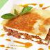 Lasagna bolognesa con masa wantán