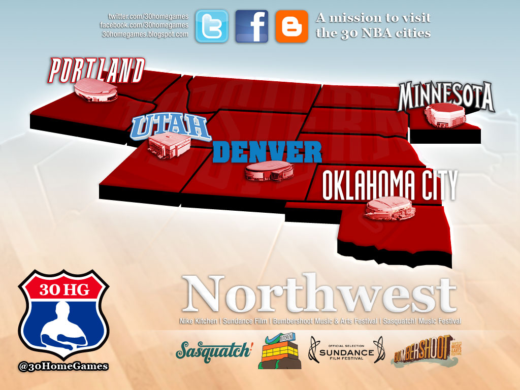 Home Games  Home Games Mission Northwest Division Map - Us map nba cities